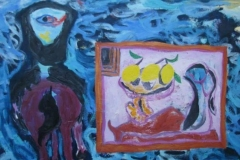 Rider with Lemons Painting 2008